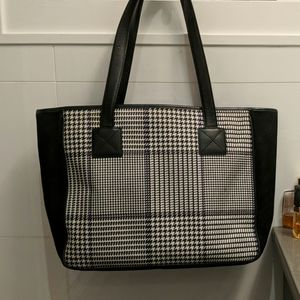 Ralph Lauren hounds tooth tote  Authentic